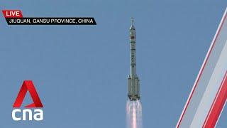 Blast off: China launches first crewed mission to Tiangong space station