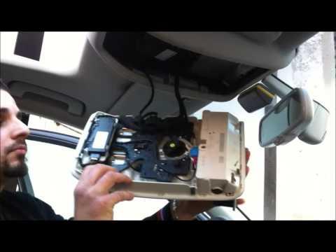 Plafoniere A Tetto : Smontaggio plafoniera anteriore audi a4 b8 8k youtube
