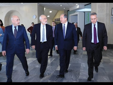 RA Presidential Candidate Armen Sarkissian Visits AUA