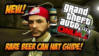 "GTA 5 Online - RAREST ITEM! How to Get the ""Double Beer Can Hat"" Special Crate Drop Guide! (GTA V)"