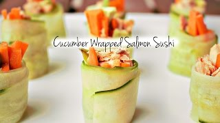 Guiltless Pleasures Cooking Channel: Cucumber Wrapped Salmon Sushi S2 Ep. 1