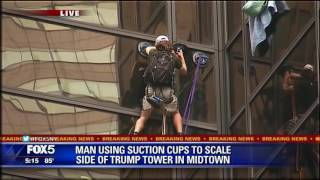 Man Climbs Trump Tower Using Suction Cups
