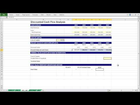 A Basic Discounted Cash Flow Model