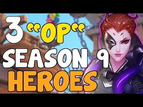 """3 """"OP"""" / BEST Heroes In Competitive So Far...   Overwatch Season 9 Ranked Guide Meta Tips Tutorial"""