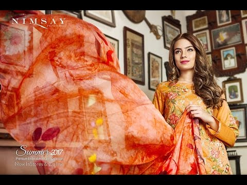 Nimsay premium embroidered lawn collection 2017