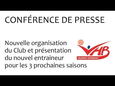 Conférence du Valence Handball du 20 04 2017