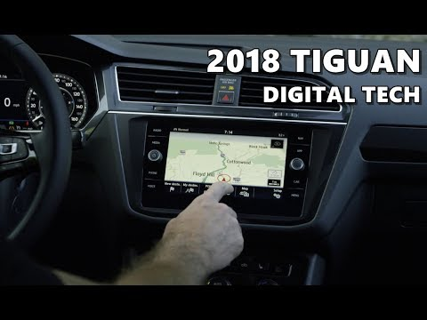 2018 vw tiguan infotainment digital instruments youtube. Black Bedroom Furniture Sets. Home Design Ideas