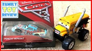 Disney Cars 3 Toys - New Diecast Toys - Are these BLACK EYES BAD GUYS? PonchY Wipeout Time Treadless