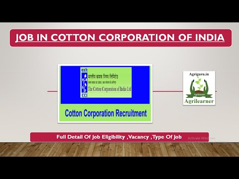 Cotton Corporation Vacancy Detail For Agriculture Students #CottonCorporation