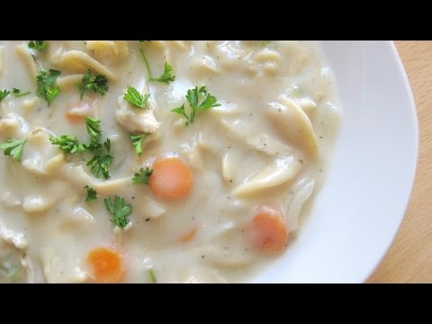 EASY CHICKEN NOODLE SOUP RECIPE (Rich And Creamy)
