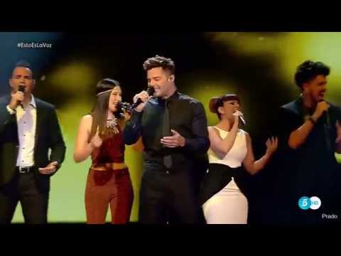 HIGH QUALITY Ricky Martin performing Disparo Al Corazon at The Voice Spain