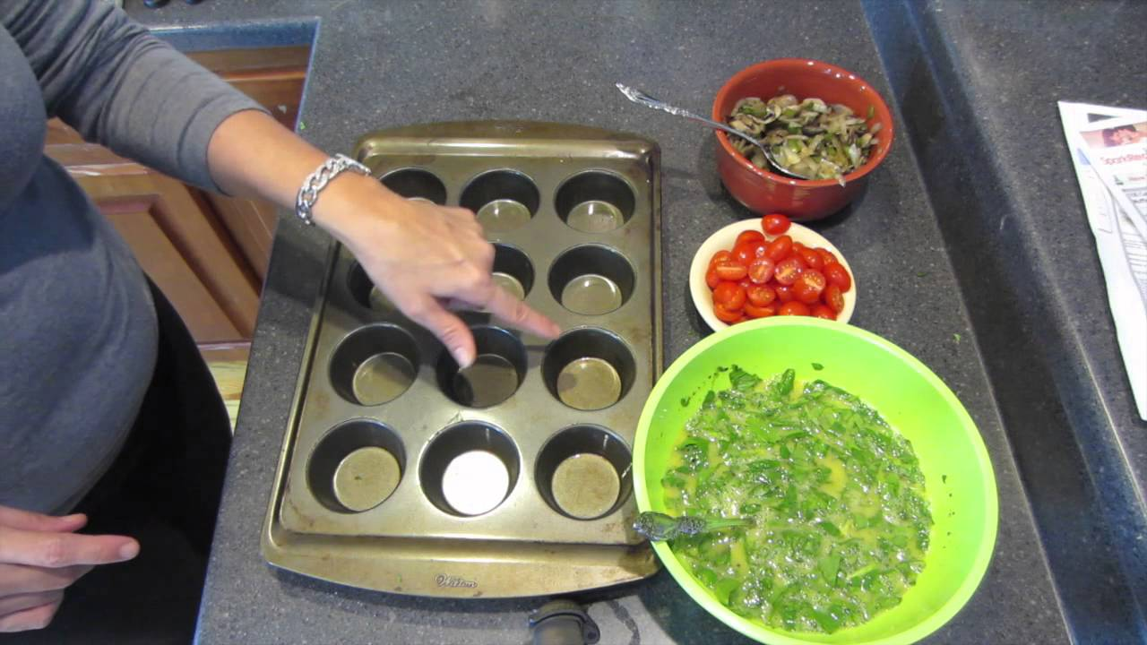 Egg Veggie Muffins Healthy Low Calorie Breakfast Youtube