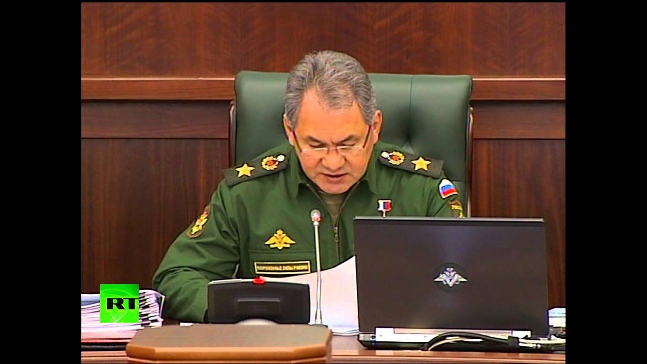 Сергей Шойгу: Российская армия начала учения в приграничных с Украиной районах
