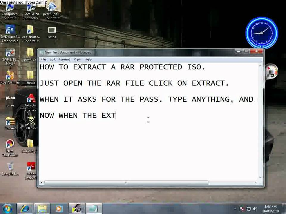 How to extract an iso from a password protected rar file