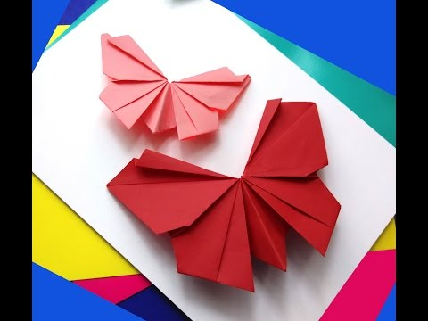 Origami butterfly - Easy to do. Paper butterfly - Wall decoration - decor
