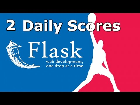 How to Create NBA website with Flask, Python, nba_py - Daily Scores - 2