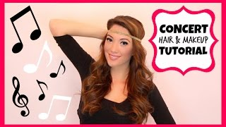 Concert Hair & Makeup Tutorial + Airbrush Foundation Demo! Thumbnail