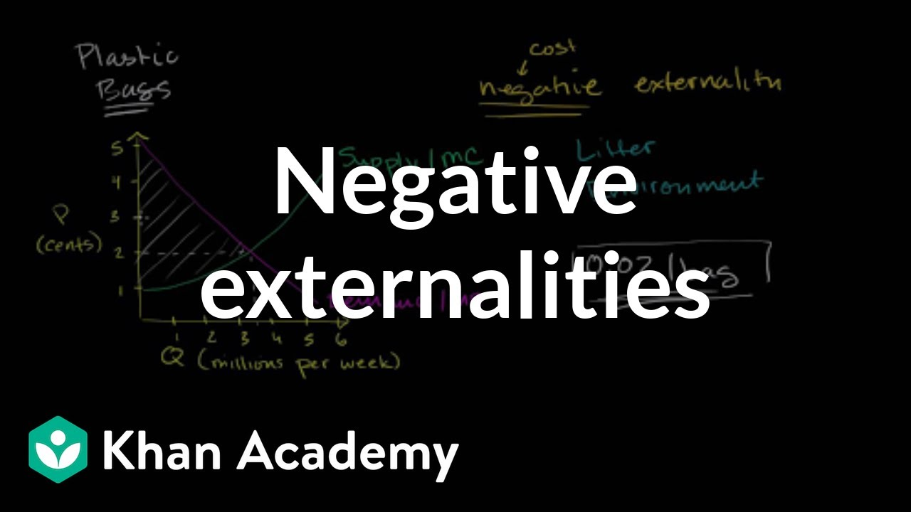 Negative externalities (video) | Khan Academy