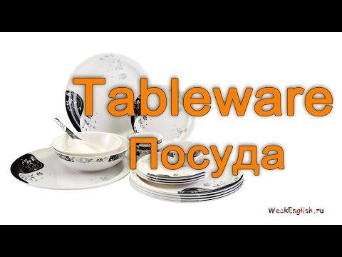 Посуда  на английском языке.  English Vocabulary - Tableware