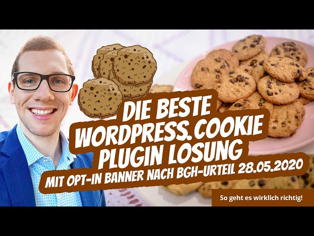 WordPress Cookie Plugin Banner Lösung mit Opt-In nach BGH-Urteil 28.05.2020 ⭐⭐⭐⭐⭐