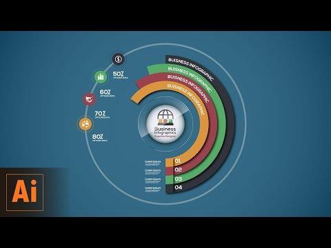 Circular Business Infographics Vector Illustrator Tutorial thumbnail