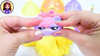 Mixing Cotton Candy Slime with added Squishies - Zuru Oosh Cuties