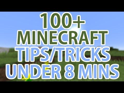 100+ Minecraft Tips/Tricks In Under 8 Minutes