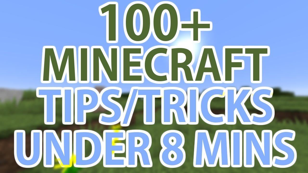 Minecraft Creative Tips Tricks: 100+ Minecraft Tips/Tricks In Under 8 Minutes