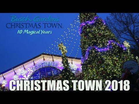 We Visit Christmas Town 2018 At Busch Gardens Williamsburg!