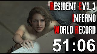 Resident Evil 3 Inferno Speedrun World Record - 51:06