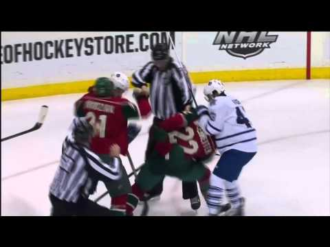 Mark Fraser Buries Niederreiter - Leafs vs Wild - Nov 13th 2013 (HD)