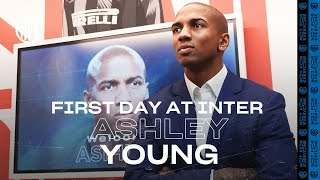 ASHLEY YOUNG'S FIRST DAY AT INTER! | #WelcomeAshley 🏴⚫🔵