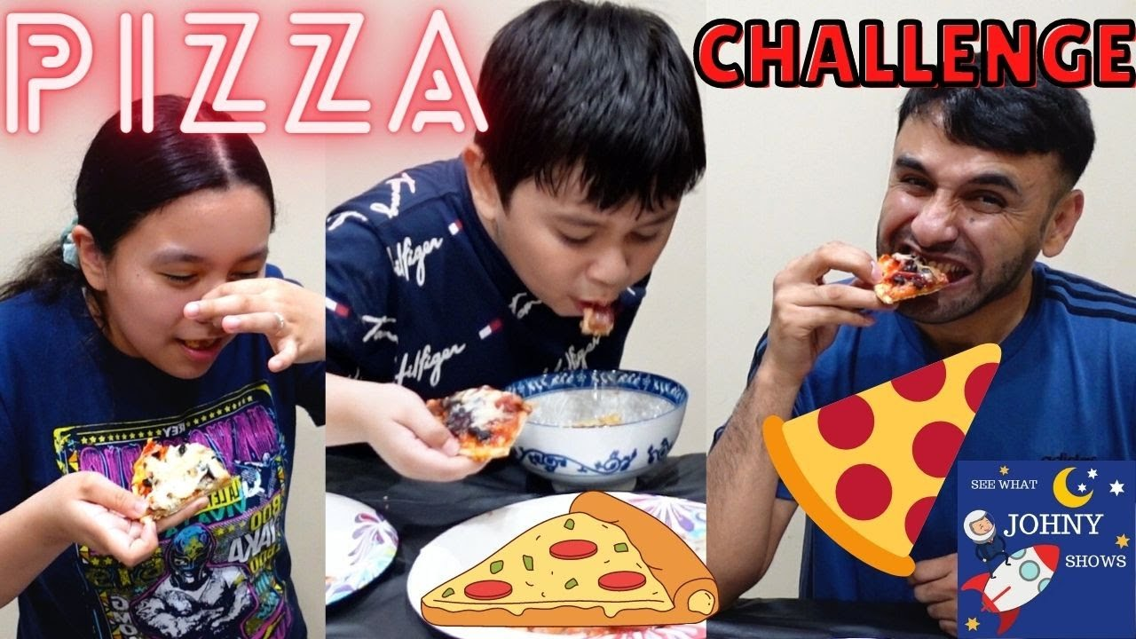 Johny Shows Pizza Challenge Mystery Toppings Pizza Family Challenges