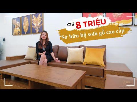 Sở hữu combo bàn ghế sofa gỗ tự nhiên cao cấp chỉ với 8 triệu đồng!