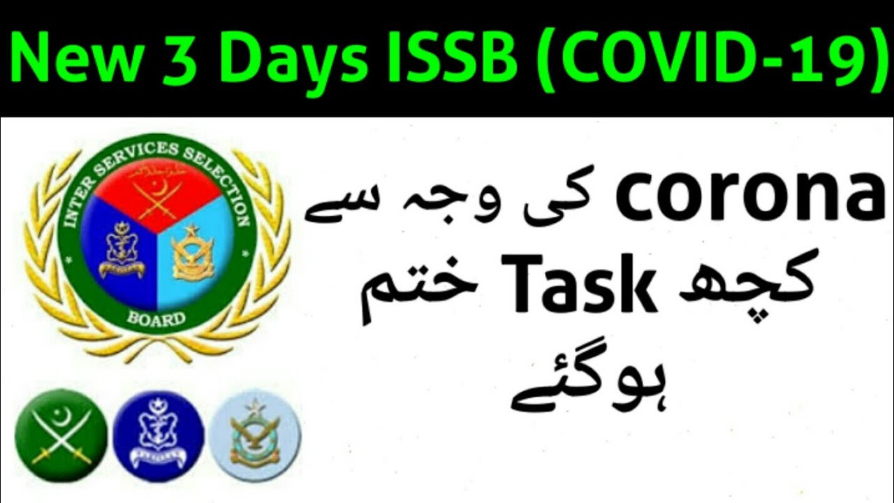 3 Days ISSB Shedule (Covid-19 Days) For NAVY,PMA,PAF |All Belong Forces|