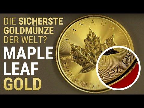 MAPLE LEAF Goldmünze - MÜNZE, DETAILS & TUBE - Gold als Anlage & Krisenvorsorge - Gold Stack Stacker