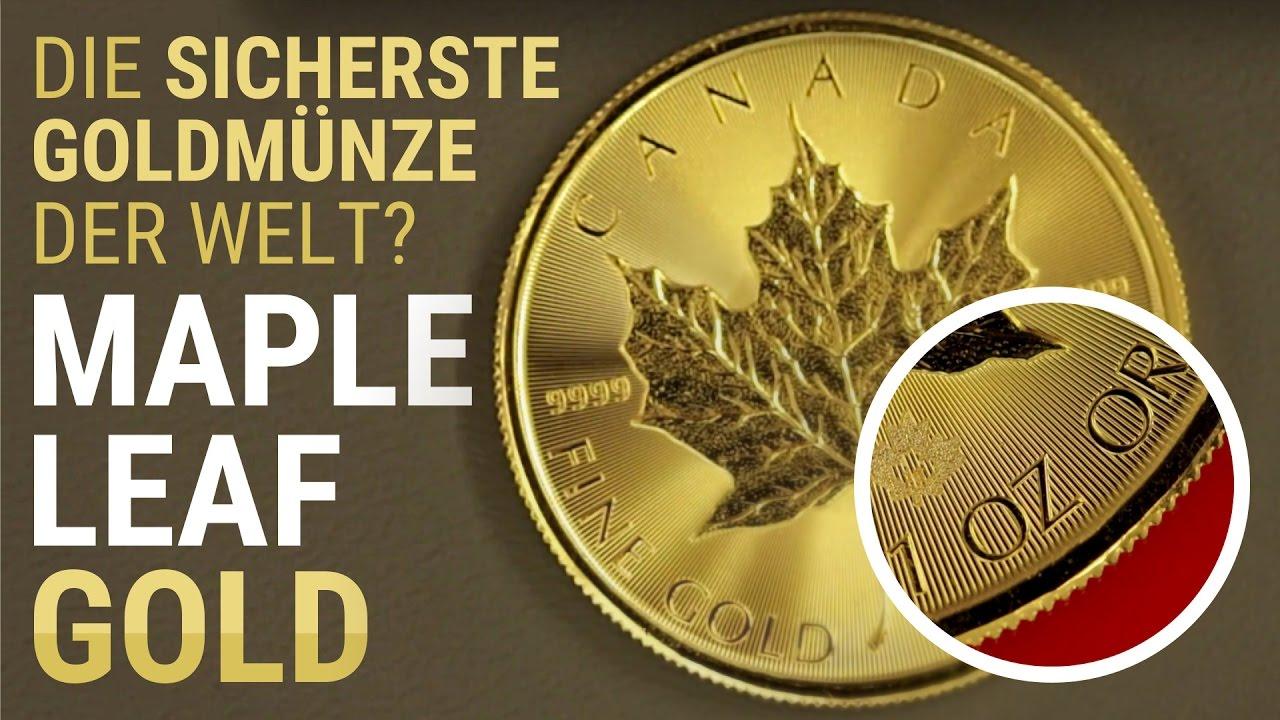 Maple Leaf Goldmünze Münze Details Tube Gold Als Anlage