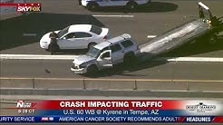 BREAKING: Crash involving semi-truck blocks traffic on US 60 in Tempe, AZ (FNN)