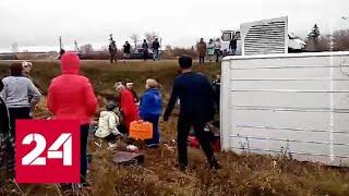 Смотреть видео Под Нижним Новгородом разбился автобус с туристами - Россия 24 онлайн