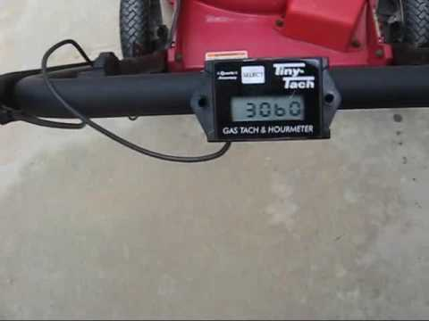 Lawn mower tachometer hook up