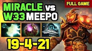 Miracle- Magic Build Ember Spirit vs w33 Best Pro Meepo mid full gameplay