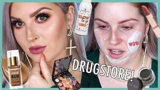 Drugstore FIRST IMPRESSIONS 🤯 Full Face of Affordable Makeup!!