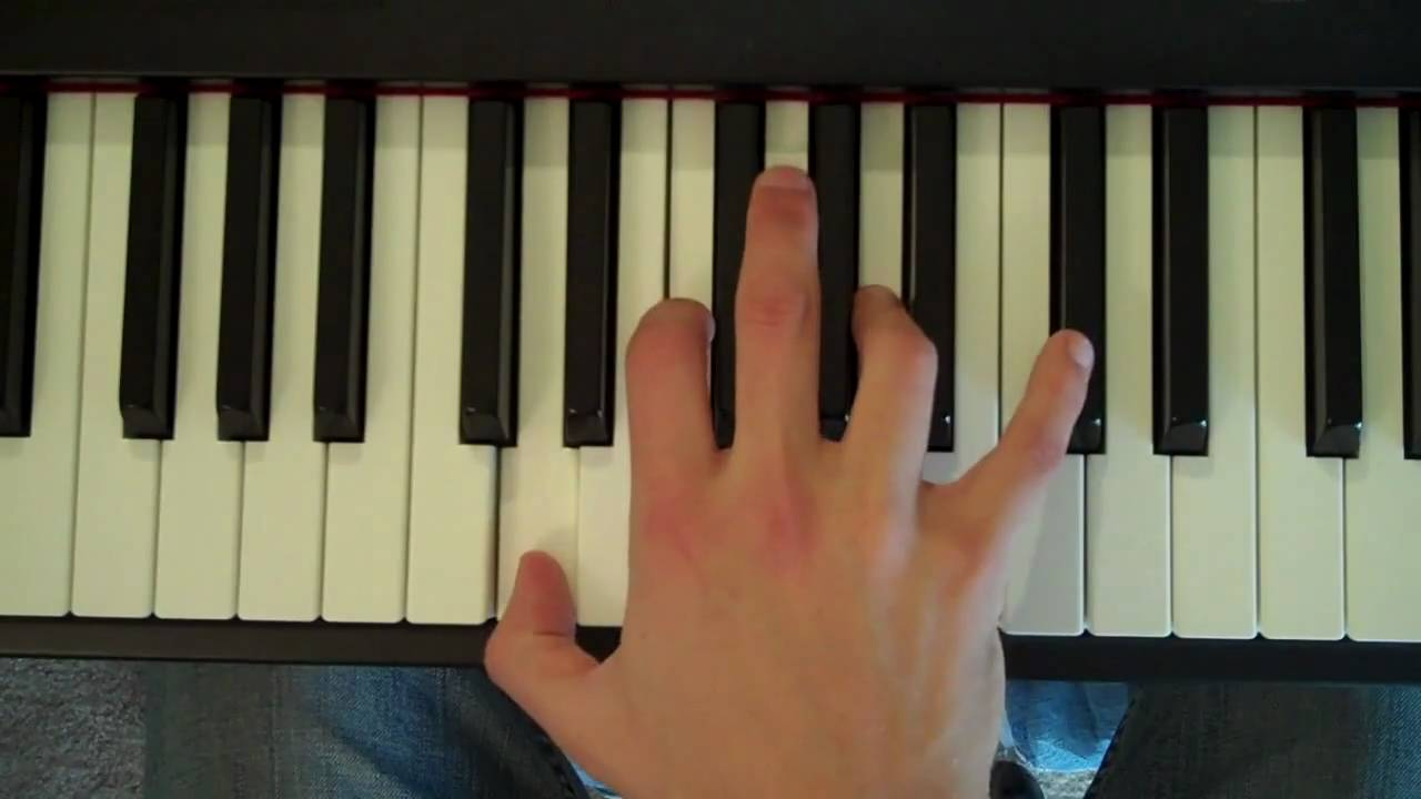 how to play d minor on piano