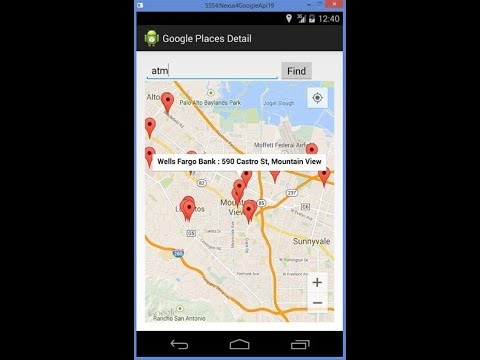 Google Maps Nearby Places Tutorial   Nearby Location( Android Tutorials )