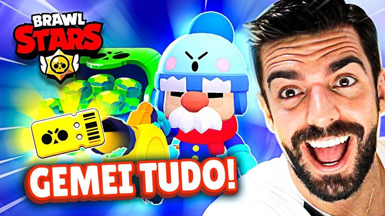GEMEI TODO O BRAWL PASS E TIVE UMA SURPRESA NO BRAWL STARS!
