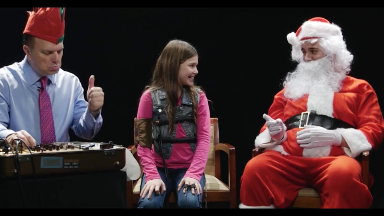 What Happens When Santa Hooks Kids Up To Lie Detectors YouTube - This is what happens when kids hook up their moms to lie detector