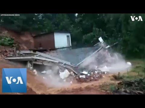 Floods in Kerala, India, Destroy Homes