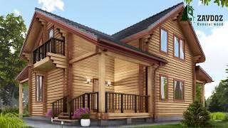 Деревянный дом из клееного бруса. Проект дома 12006.(, 2017-08-21T12:47:50.000Z)