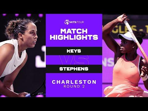 Sloane Stephens vs. Madison Keys | 2021 Charleston Round 2 | WTA Match Highlights