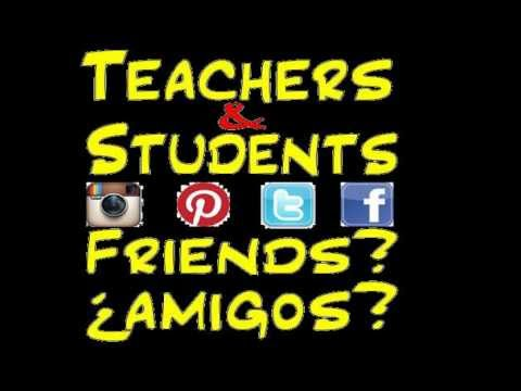 teachers and students friends on social media